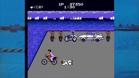 バイクに轢かれるくにお