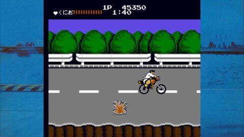 くにおくんバイクを破壊